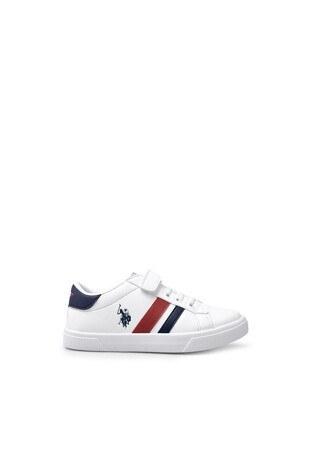 U.S. Polo Assn - U.S. Polo Assn Sneaker Erkek Çocuk Ayakkabı WEXI BEYAZ-LACİVERT