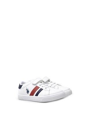 U.S. Polo Assn Sneaker Erkek Çocuk Ayakkabı WEXI BEYAZ-LACİVERT