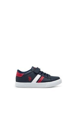 U.S. Polo Assn - U.S. Polo Assn Sneaker Erkek Çocuk Ayakkabı WEXI KIRMIZI