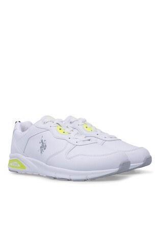 U.S. Polo Bayan Ayakkabı VOYA Beyaz-Neon Sarı