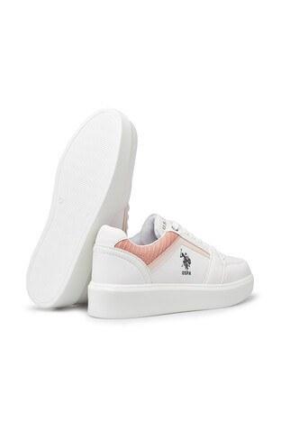 U.S. Polo Casual Bayan Ayakkabı DAZZLE BEYAZ-PUDRA