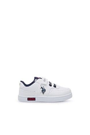 U.S. Polo Assn - U.S. Polo Sneaker Unisex Çocuk Ayakkabı CAMERON 1FX B BEYAZ