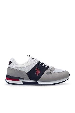U.S. Polo Assn - U.S. Polo Erkek Ayakkabı BENTLEY 1FX Beyaz-Gri-Lacivert