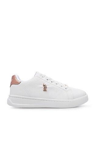 U.S. Polo Assn - U.S. Polo Havuz Taban Sneaker Bayan Ayakkabı EXXY BEYAZ