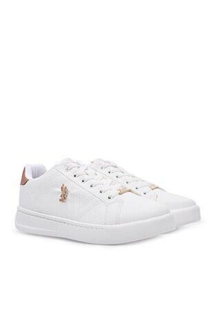 U.S. Polo Havuz Taban Sneaker Bayan Ayakkabı EXXY BEYAZ