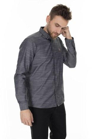 U.S. Polo Slim Fit Erkek Gömlek G081SZ004-845178 ANTRASİT