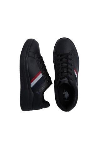 U.S. Polo Sneaker Bayan Ayakkabı CAMEL SİYAH-SİYAH