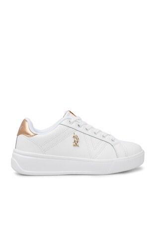 U.S. Polo Assn - U.S. Polo Sneaker Bayan Ayakkabı EXTRA BEYAZ