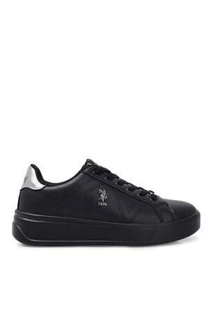 U.S. Polo Assn - U.S. Polo Sneaker Bayan Ayakkabı EXTRA SİYAH-SİYAH