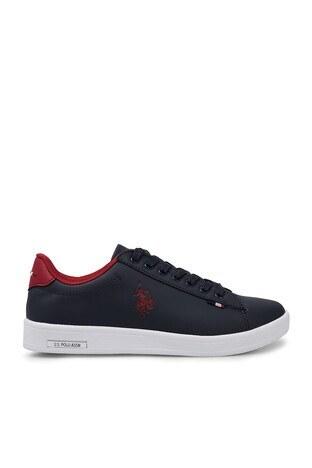 U.S. Polo Assn - U.S. Polo Sneaker Bayan Ayakkabı FRANCO DHM LACİVERT-KIRMIZI