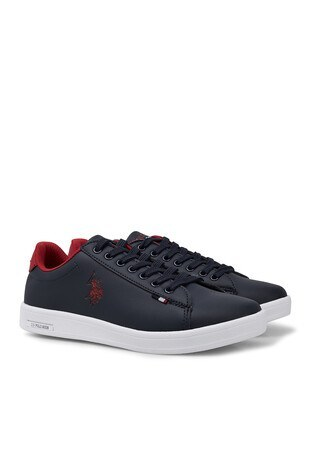 U.S. Polo Sneaker Bayan Ayakkabı FRANCO DHM LACİVERT-KIRMIZI