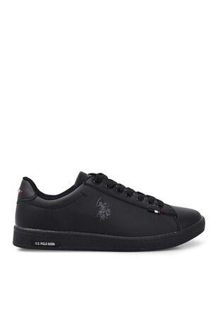 U.S. Polo Assn - U.S. Polo Sneaker Bayan Ayakkabı FRANCO DHM SİYAH-SİYAH