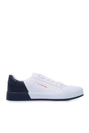 U.S. Polo Assn - U.S. Polo Sneaker Bayan Ayakkabı LEXI BEYAZ-LACİVERT
