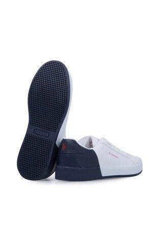 U.S. Polo Sneaker Bayan Ayakkabı LEXI BEYAZ-LACİVERT