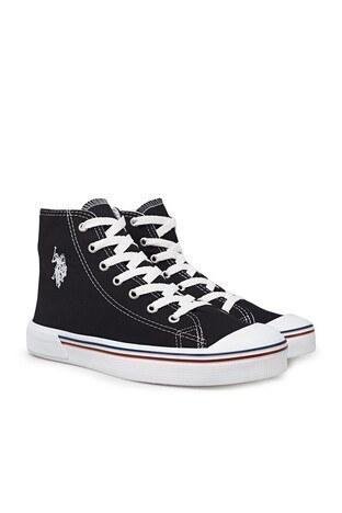 U.S. Polo Sneaker Bayan Ayakkabı PENELOPE HIGH 1FX SİYAH