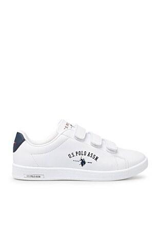 U.S. Polo Assn - U.S. Polo Sneaker Bayan Ayakkabı SINGER WMN 1FX BEYAZ