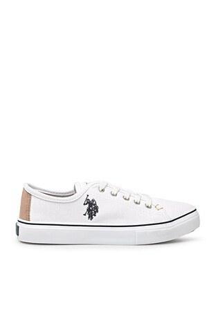 U.S. Polo Assn - U.S. Polo Sneaker Bayan Ayakkabı TOGA 1FX BEYAZ-BEYAZ