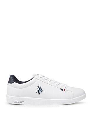 U.S. Polo Assn - U.S. Polo Sneaker Erkek Ayakkabı FRANCO 1FX BEYAZ