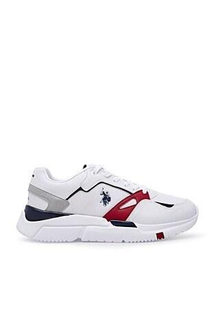 U.S. Polo Assn - U.S. Polo Sneaker Erkek Ayakkabı HOLD TEX BEYAZ