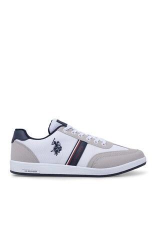 U.S. Polo Assn - U.S. Polo Sneaker Erkek Ayakkabı KARES BEYAZ