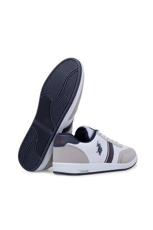 U.S. Polo Sneaker Erkek Ayakkabı KARES BEYAZ