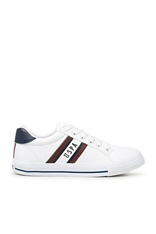 U.S. Polo Assn - U.S. Polo Sneaker Erkek Ayakkabı PURE 1FX BEYAZ