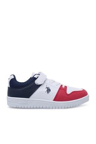 U.S. Polo Assn - U.S. Polo Sneaker Erkek Çocuk Ayakkabı DOUGLAS BEYAZ-LACİVERT-KIRMI