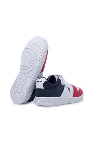 U.S. Polo Sneaker Erkek Çocuk Ayakkabı DOUGLAS BEYAZ-LACİVERT-KIRMI