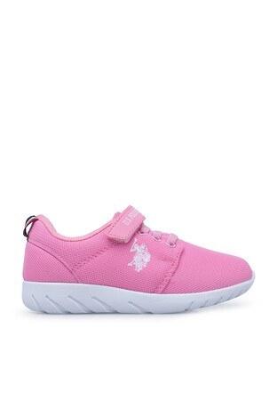 U.S. Polo Assn - U.S. Polo Sneaker Unisex Çocuk Ayakkabı HONEY PEMBE