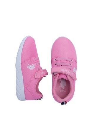 U.S. Polo Sneaker Unisex Çocuk Ayakkabı HONEY PEMBE