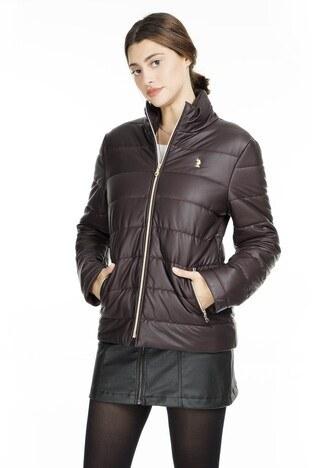 U.S. Polo Suni Kadın Deri Ceket G082SZ035P01 WP8030 BORDO