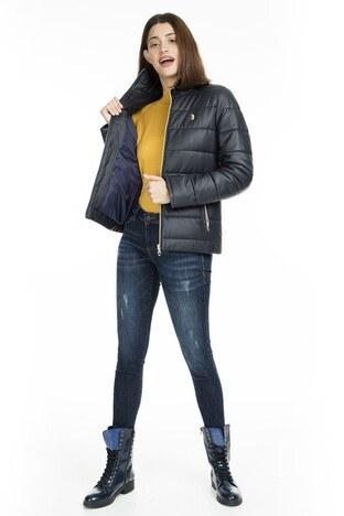 U.S. Polo Suni Kadın Deri Ceket G082SZ035P01 WP8030 LACİVERT