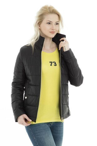 U.S. Polo Suni Kadın Deri Ceket G082SZ035P01 WP8030D KAHVE