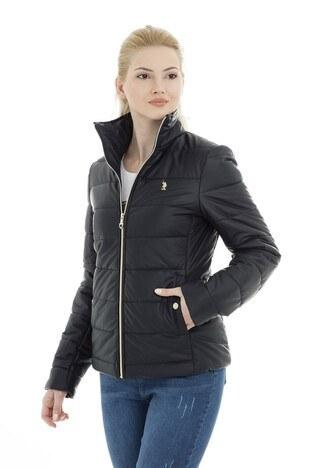 U.S. Polo Suni Kadın Deri Ceket G082SZ035P01 WP8030D LACİVERT