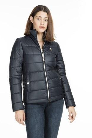 U.S. Polo Suni Kadın Deri Ceket G082SZ035P01 WP8050 LACİVERT
