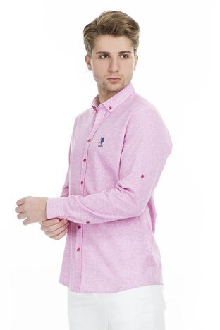 U.S.Polo Erkek Gömlek G081SZ004 738874 PEMBE
