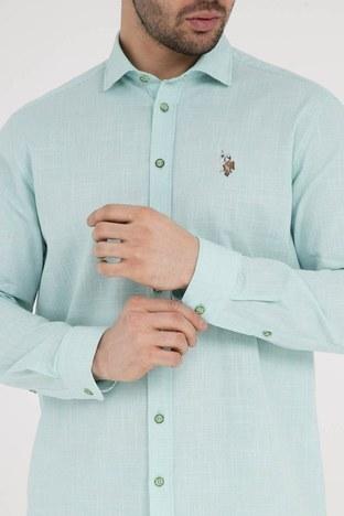 U.S.Polo Erkek Gömlek G081SZ004 738933 Elma Yeşili