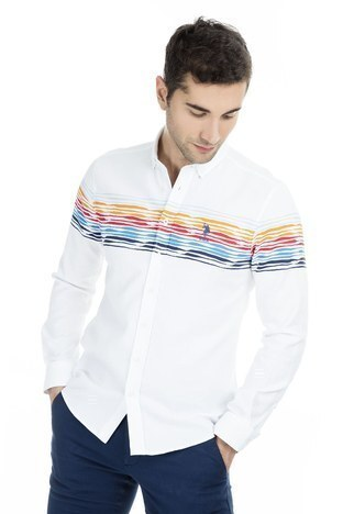 U.S.Polo Erkek Gömlek G081SZ004-739026 KIRMIZI