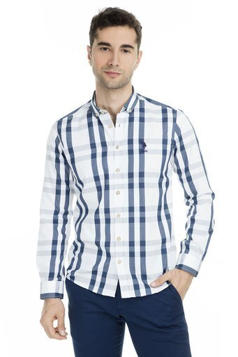 U.S.Polo Erkek Gömlek G081SZ004-751785 BEYAZ