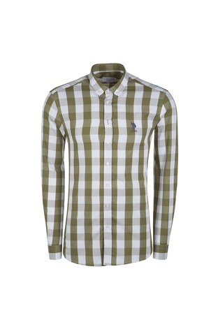 U.S.POLO Erkek Gömlek G081SZ004602484 HAKİ