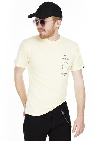 Vans Distortion Type Erkek T Shirt VN0A49PVYKA1 KREM