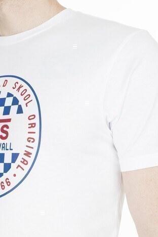 Vans OG Checker Slim Fit Erkek T Shirt VN0A49SYWHT1 BEYAZ