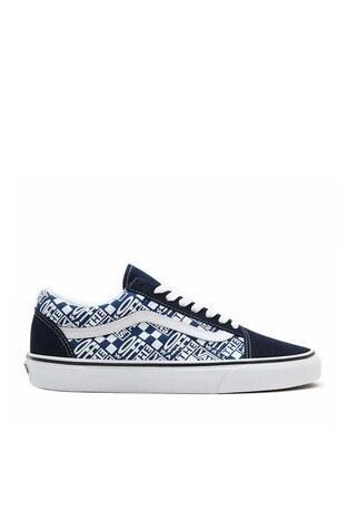 Vans - Vans UA Old Skool Sneaker Unisex Ayakkabı VN0A3WKT4QA1 BEYAZ-LACİVERT