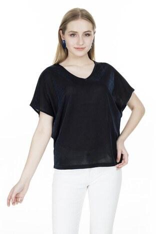 Vero Moda - Vero Moda Vmdenise Bayan Bluz 10221623 LACİVERT