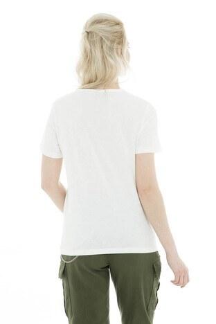 Vero Moda Vmgunes Ss Top Lcs Bayan T Shirt 102152775 EKRU