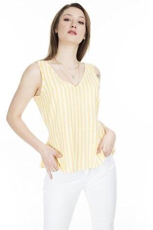 Vero Moda Vmhelenmilo Bayan Atlet 10226439 SARI-BEYAZ