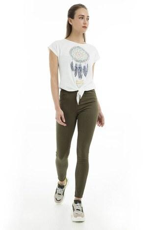 Vero Moda - Vero Moda Vmhot Sophia Hr Skinny Pants Color Jeans Bayan Kot Pantolon 10209868 HAKİ