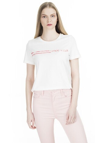 Vero Moda Vmingefredolly Bayan T Shirt 10227913B EKRU