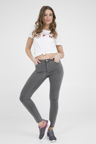 Vero Moda - Vero Moda Vmjulia Flex İt Mr Slim Jegging Gu103 Jeans Bayan Kot Pantolon 10211617 GRİ