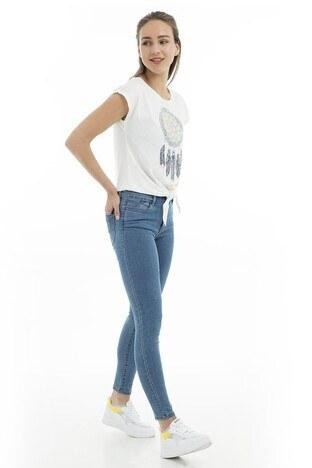 Vero Moda - Vero Moda Vmjulia Flex It Mr Slim Jegging Gu303 Jeans Bayan Kot Pantolon 10203146 MAVİ